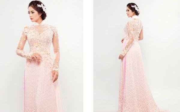 Những mẫu áo dài cưới đẹp nhất hiện nay