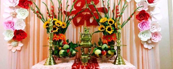 Tự trang trí bàn thờ gia tiên ngày cưới chuẩn phong tục đẹp mê ly