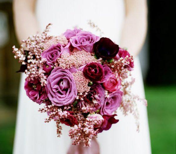 Hoa cưới màu tím mộng mơ cho đám cưới lãng mạn