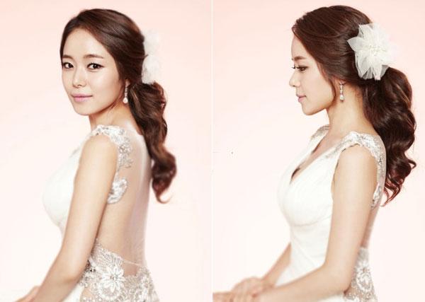5 kiểu tóc cô dâu Hàn Quốc cho nàng đẹp như công chúa