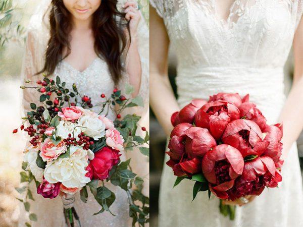 Hoa cưới hoa mẫu đơn rực rỡ cho hôn lễ hiện đại