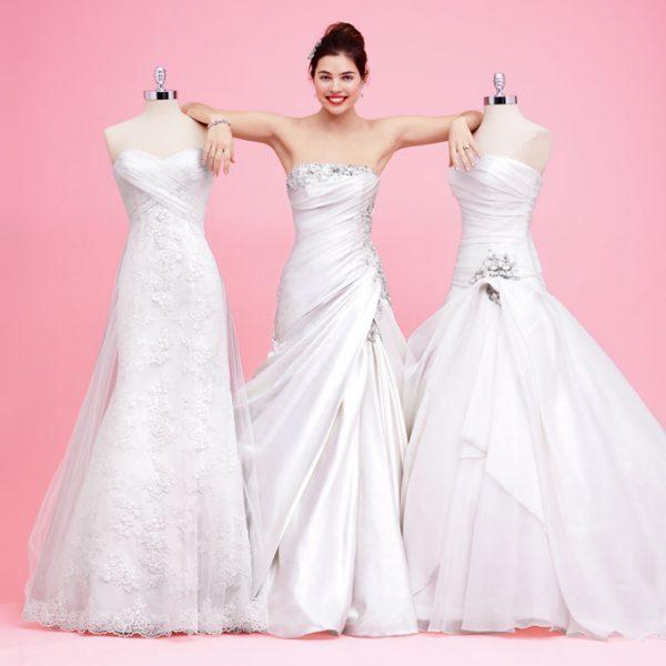 Bật mí bí quyết để mặc áo cưới thật đẹp