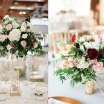 Trang trí tiệc cưới với hoa hồng rực rỡ