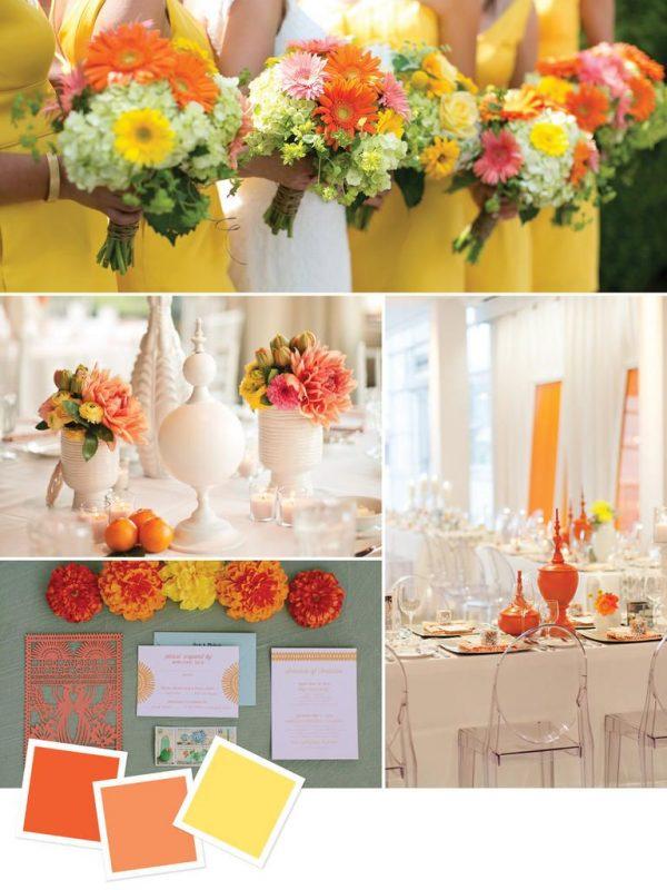 Trang trí đám cưới mùa thu với những tông màu nhẹ dịu